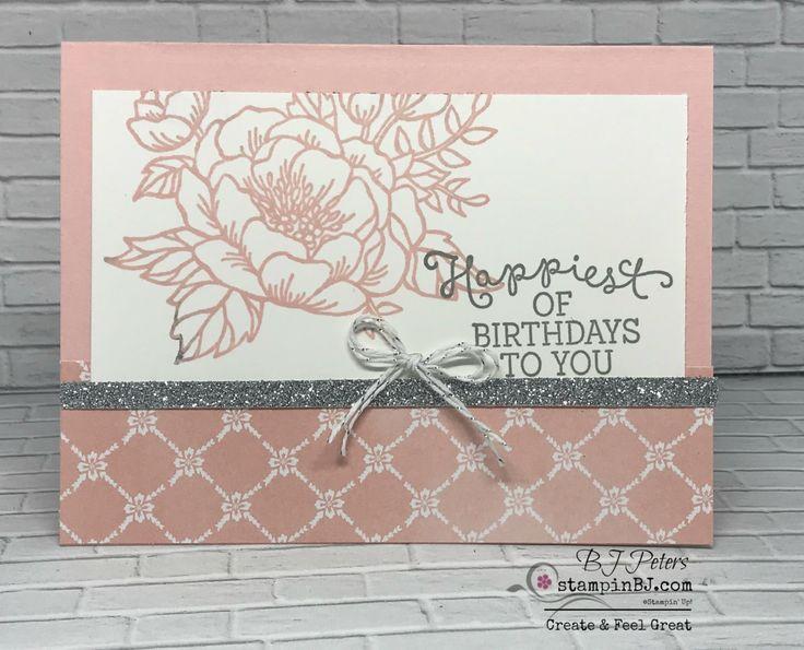 Birthday Blooms, Stampin' Up!, BJ Peters, StampinBJ.com