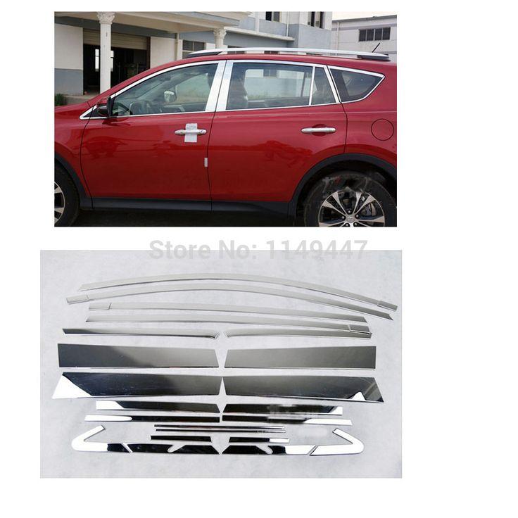 Stainless Steel 22 pcs Full Window Trims Cover For Toyota RAV4 2013 2014 2015 2016