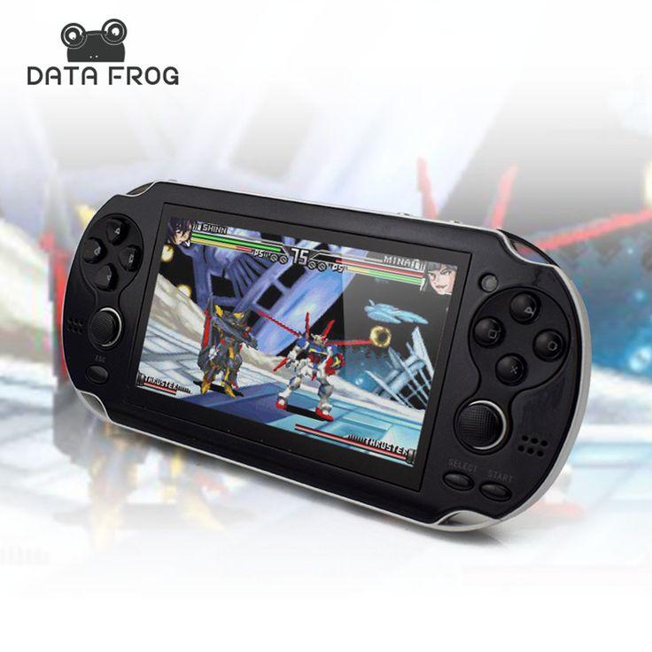 Katak 4.3 Inch Pemain Game Genggam 4 GB Data 32 Bit Video permainan Dukungan Konsol TV Out Put Dibangun pada 10000 Game Rocker Ganda