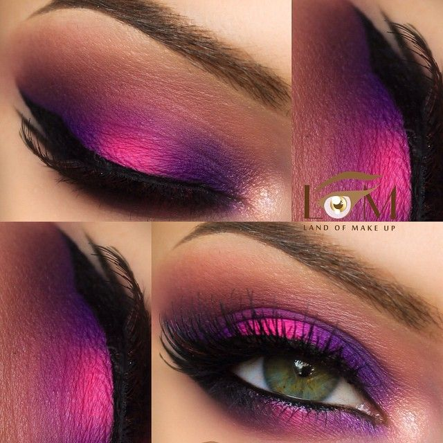 Pink and purple eye look ❤