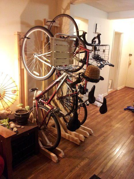 Vertical Bike Rack from 2x4s