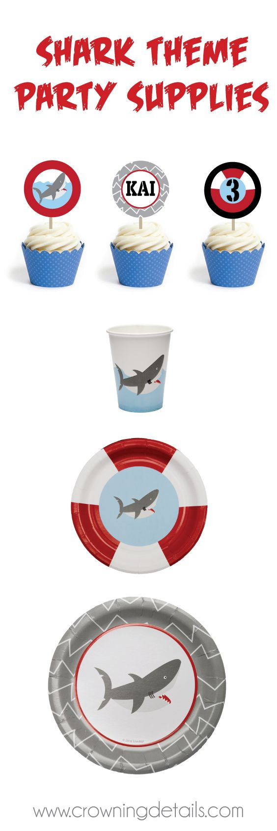 Shark party supplies for a FIN-tastic birthday party! Shop the entire collection of shark party supplies in our online store.