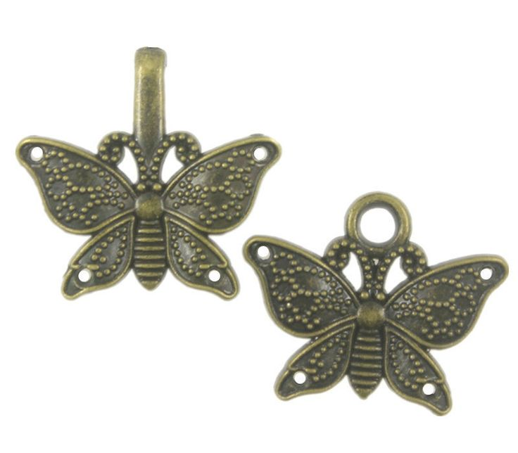 Butterfly Cloak Clasp Antique Brass Fasteners