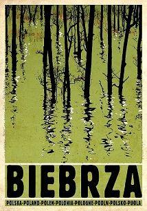 Biebrza, polski plakat turystyczny