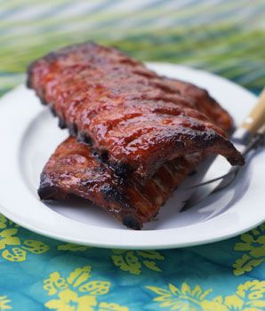 "Chinese-Hawaiian ""Barbecued"" Ribs Recipe  at Epicurious.com"