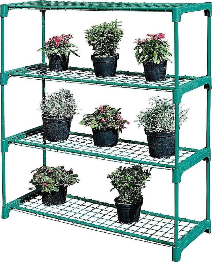 4 Shelf Tubular Greenhouse Shelving 1000 in 2020