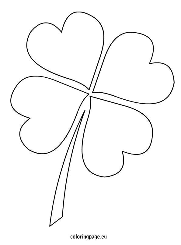 4 leaf clover template