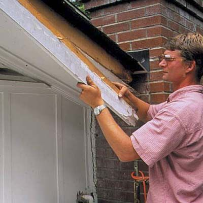 16 best images about soffit fascia rain gutters drip - Repairing wood rot on exterior door ...