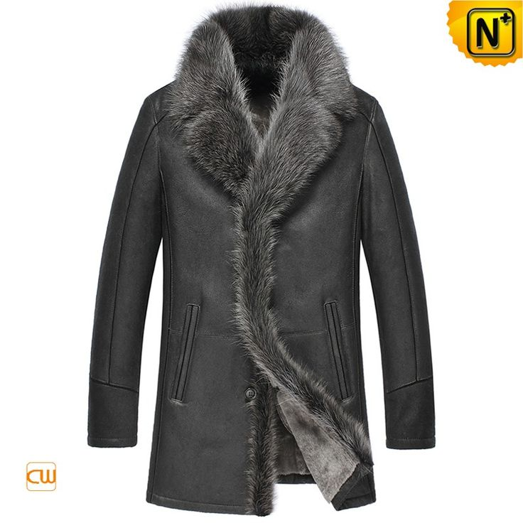Men's Fur Trim Sheepskin Coat CW855483 Warm fur trim coats crafted from sheepskin with lamb fur shearling material and large raccoon fur trim. Handsome sheepskin coat with real raccoon fur trim at collar and front, magnetic snap at slit pockets, enhance your protection from wind and cold. www.cwmalls.com PayPal Available (Price: $1557.89) Email:sales@cwmalls.com