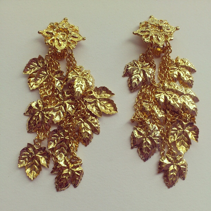 #gold #earrings #pendientes #beautiful #outfit #style #fashion #bisuteria #jewelry #diy