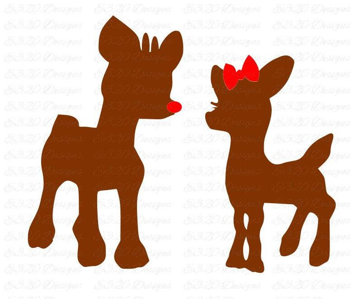 Fun for Christmas crafts - Rudolph Red Nosed Reindeer Girlfriend Clarice Christmas SVG File