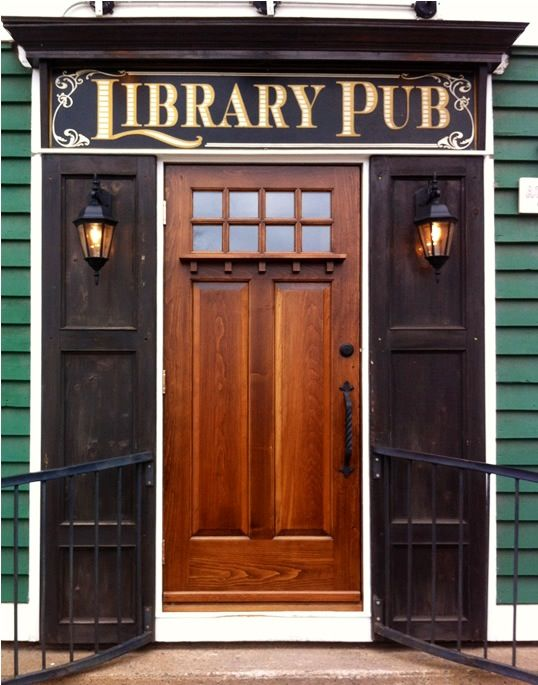 The Library Pub Tavern in Wolfville Nova Scotia. Across from Acadia University. Purely genius!