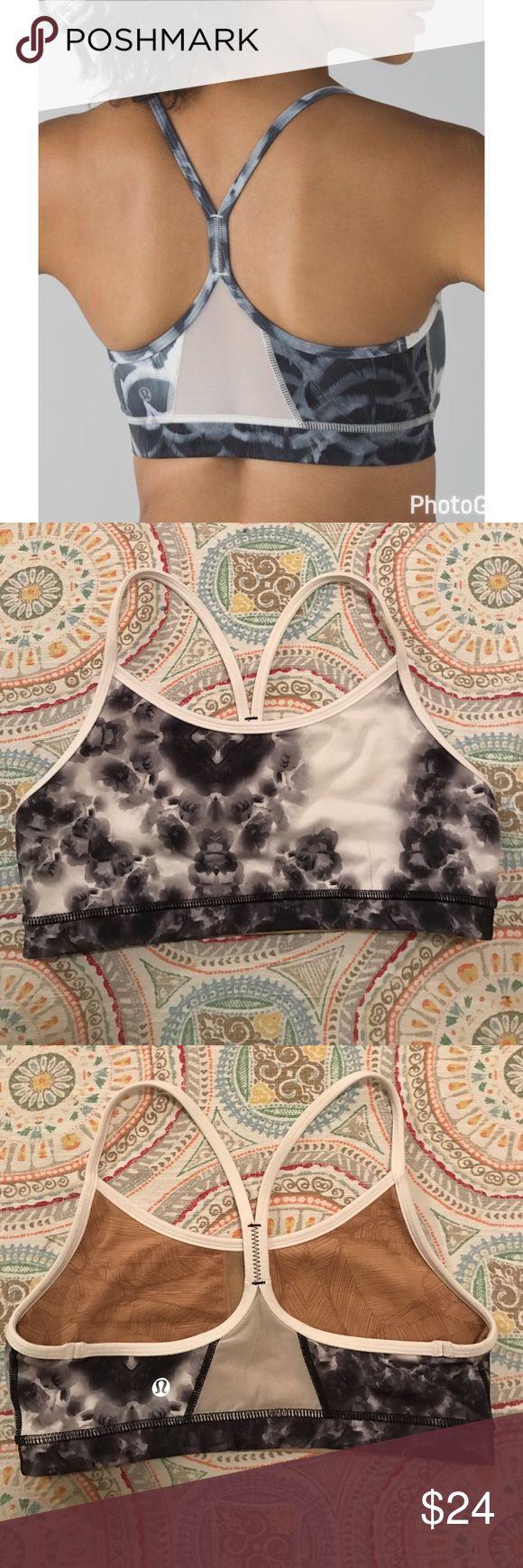Lululemon Power Flow Y Bra Size 6 EUC. Missing removable bra pads. Print is different than stock photo. lululemon athletica Intimates & Sleepwear Bras
