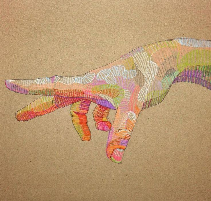 Colorful and Realistic Illustrations of Hands and Faces – Fubiz Media