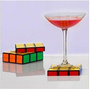 Rubik's Cube Coasters.