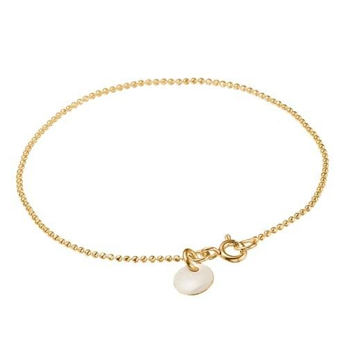 ENAMEL bracelet, gold plated sterling silver, white