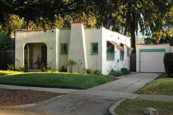Spanish revival cottage in historic bungalow heaven for Spanish bungalow exterior paint colors