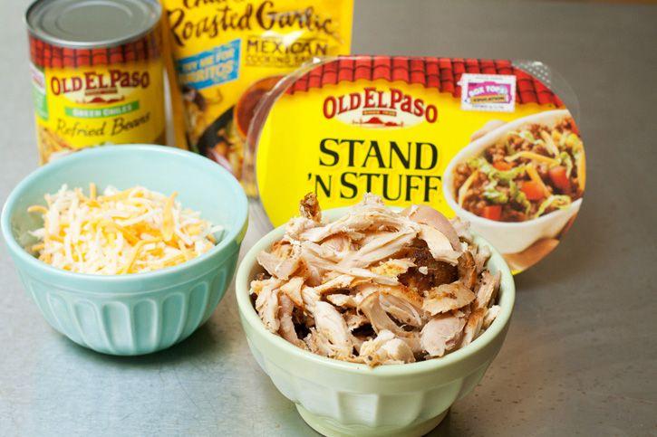 Shortcut Baked Chicken Burrito Bowls ingredients