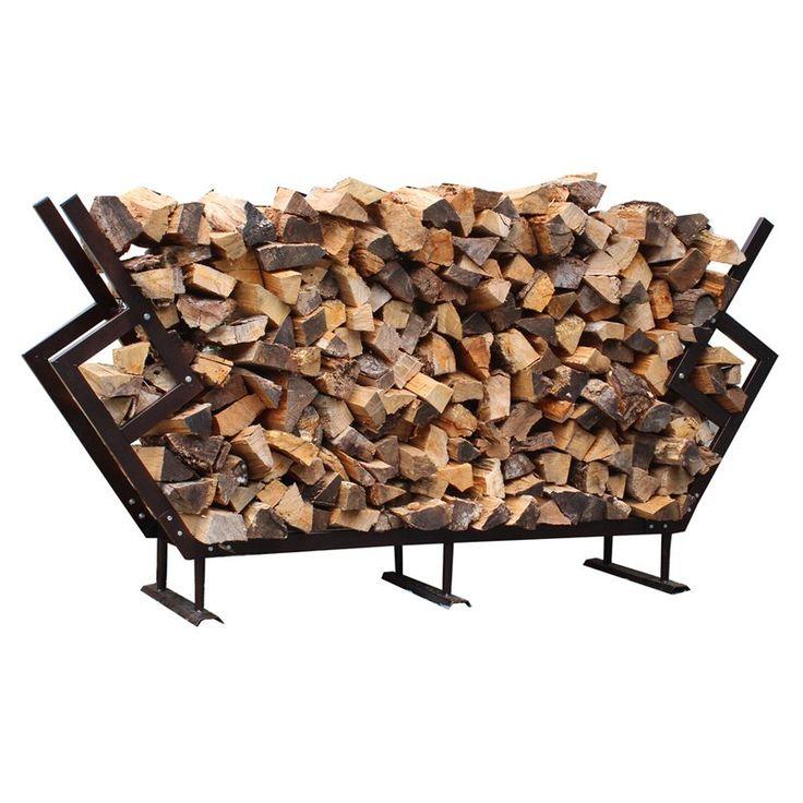 FireKing Modern Firewood Rack with Cover - LRGPRMFWR-WC