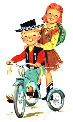 Remember standing on the back of the tricycle? It seems like yesterday...