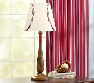 DIY 'Pottery Barn Knock Off' baseball lamp