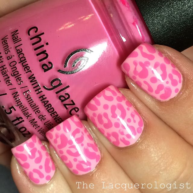 The Lacquerologist: Monochromatic Pink Leopard Nail Art + Jamie & Nate's Wedding!