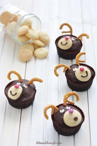 cupcakes renne di Babbo Natale