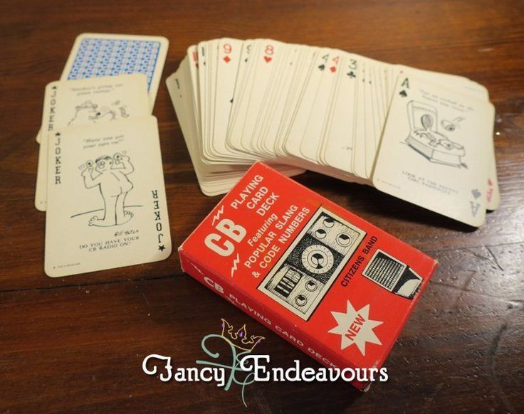 Vintage CB Citizens Band Radio Cartoon Playing Cards AG Muller Switzerland #AGMuller