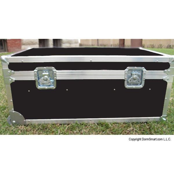Safari Black Large ATA College Footlocker with Recessed Wheels and Tray | FREE SHIPPING