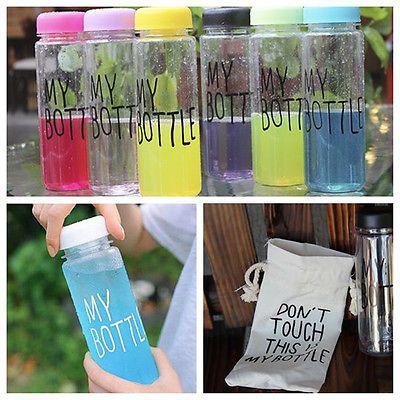 Clear My Bottle Sport Fruit Juice Water Cup Portable 500ML Travel Bottle JS