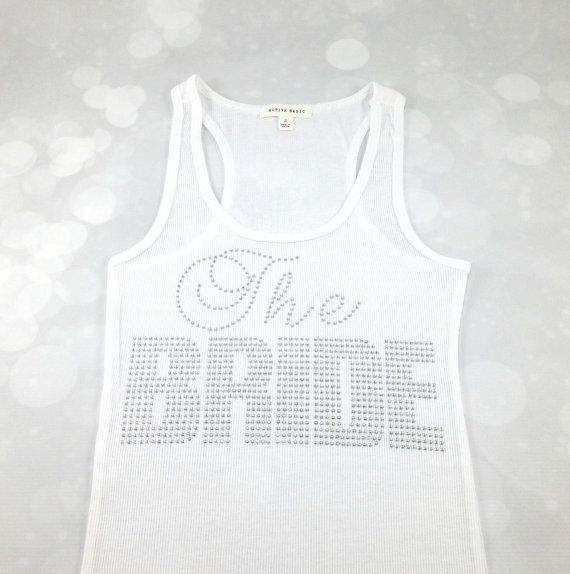Mega Bling Rhinestone Bride Tank Top Bachelorette by TheSassyBride