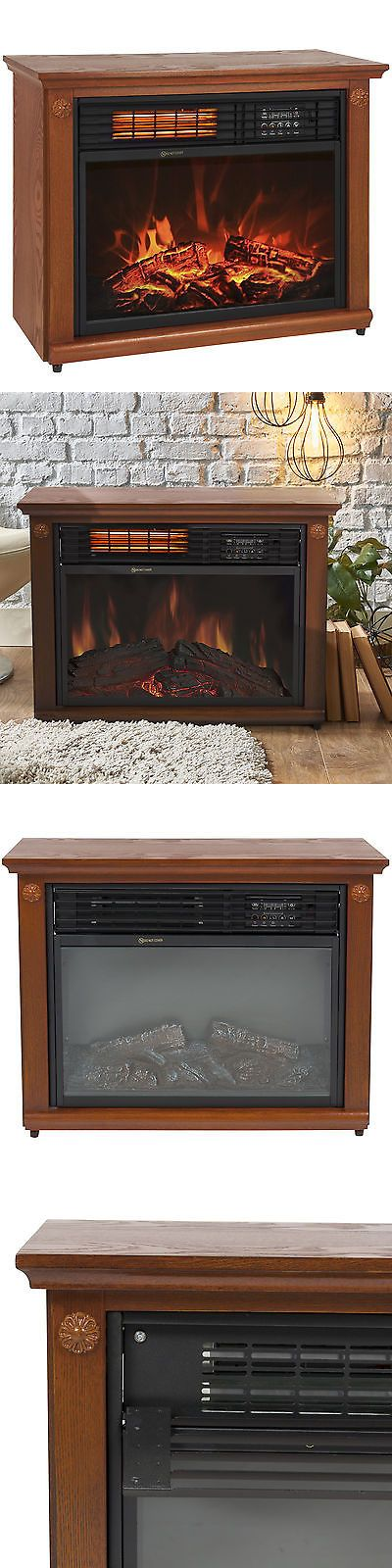 Fireplaces 175756: Large Room Infrared Quartz Electric Fireplace Heater Honey Oak Finish W Remote -> BUY IT NOW ONLY: $119.95 on eBay!