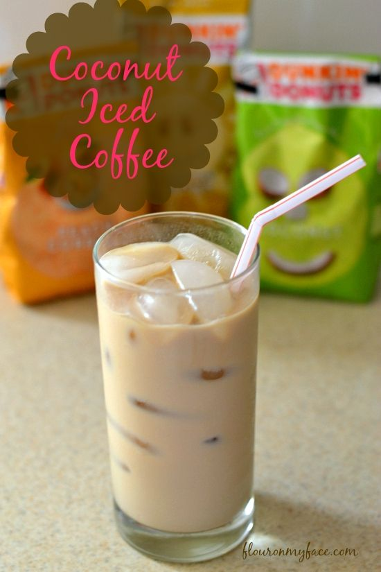 Dunkin' Donuts Seasonal Flavors are here! Coconut Iced Coffee  http://flouronmyface.com #DunkinMugUp #sponsored