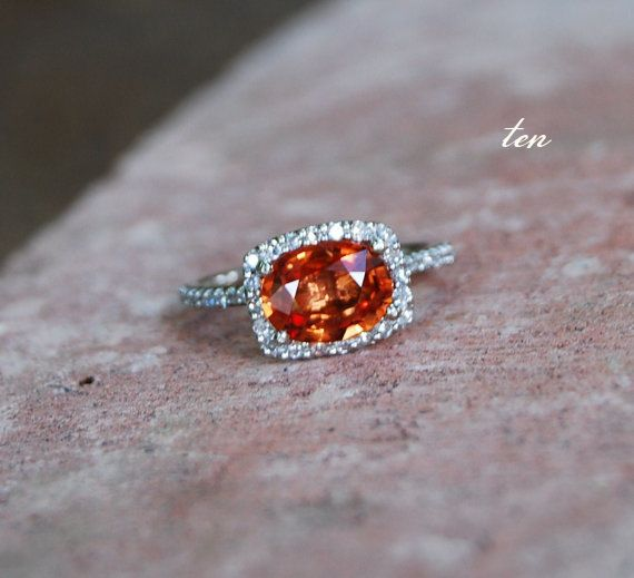 in love with this orange gemstone