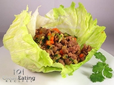 Clean San Choy Bow  Makes 10 Portions : 2-3 portions per person.  https://itunes.apple.com/app/clean-eating-recipes/id553771127