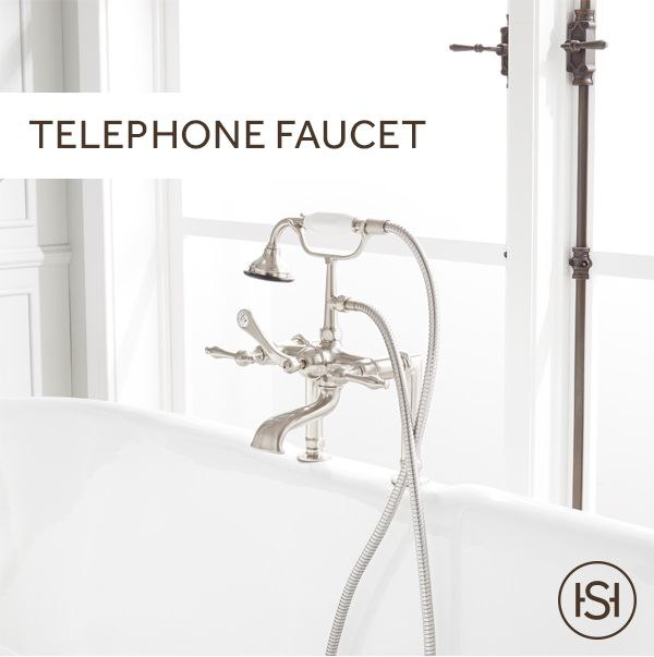Add A Classic Touch To Any Bathtub With The Telephone Deck Mount