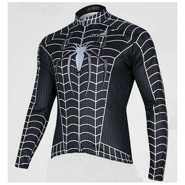 Cycling Clothes Cycling Clothes 2013 Black Venom cycling long jersey-Spiderman