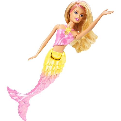 Barbie Mermaid Doll, Pink and Yellow