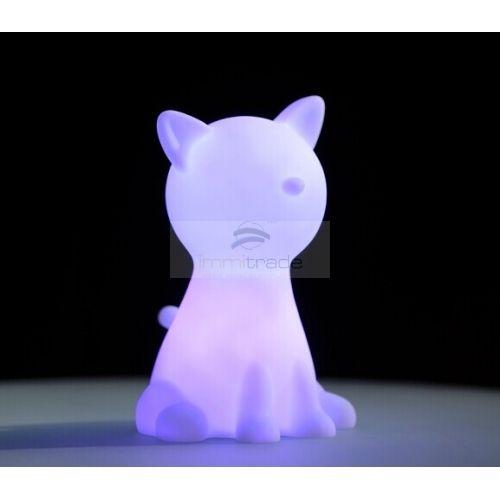 LED Mood Light Table Lamp - RGB Color Changing - Bedroom Mini Night Light (cat shape)
