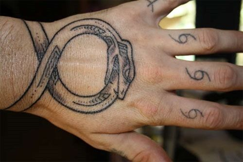 http://tattoo-ideas.us/wp-content/uploads/2014/02/Ouroboros-Tattoo.jpg Ouroboros Tattoo #BlackInk, #Handtattoos, #Symboltattoos