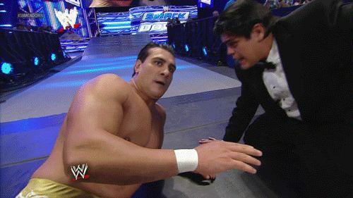 Un momento!    #wrestling  #wwe  #smackdown  #alberto #del #rio #ricardo #rodriguez  #gif