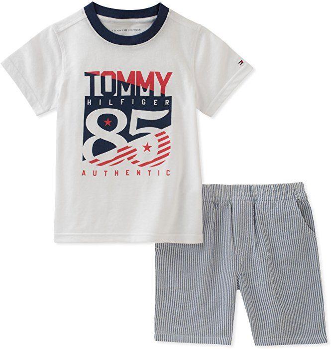 Tommy Hilfiger Boys 2 Pieces Shorts Set