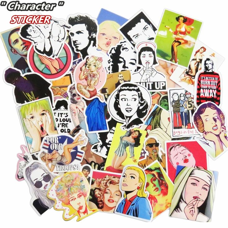 New 51 Pcs Boys and Girls Sticker  for Skateboard Suitcase Laptop Home Decor Doodle Cool DIY Stickers Car Styling Vinyl Decals
