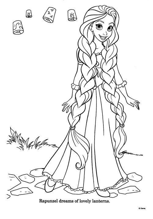 Les 230 meilleures images du tableau coloriage raiponce - Princesse raiponce a colorier ...