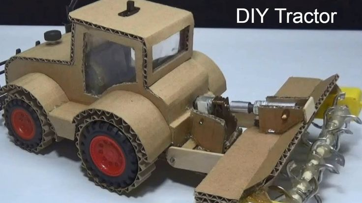 Amazing RC Tractor! How to make Powerful Farm Tractor from Cardboard