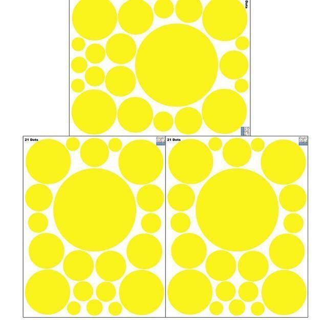Polka Dot Wall Decals- Yellow Wall Dot Stickers