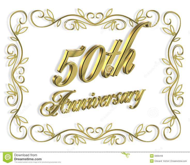 Th wedding anniversary invitation d stock image