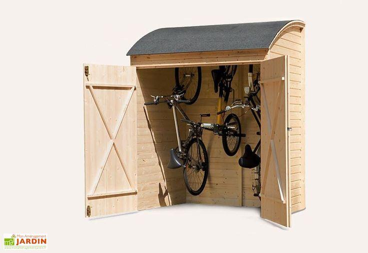 Abri à vélos en bois adossable Abri De Jardin (outils ET vélos - abris de jardin adossable
