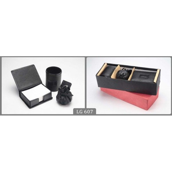 Tabletops With Box Pack Wallets & Pen Holder with Logo. #promotionalsets
