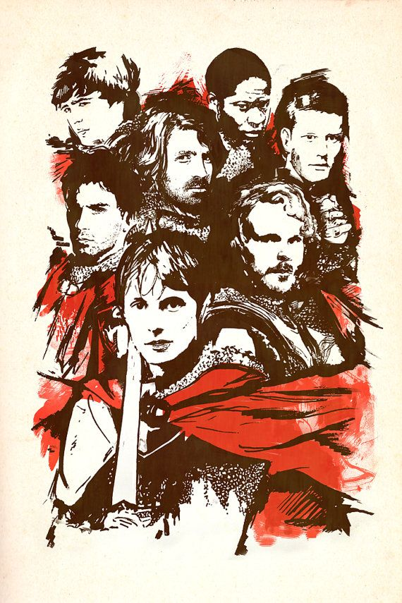 The Knights of Camelot BBC Merlin Print by elleisamonster on Etsy
